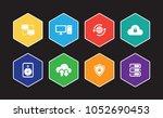 network technology infographic... | Shutterstock .eps vector #1052690453