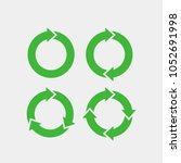recycling flat vector icons set.... | Shutterstock .eps vector #1052691998