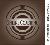 online coaching badge with... | Shutterstock .eps vector #1052699189