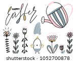 card with calligraphylettering... | Shutterstock .eps vector #1052700878
