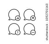 speech bubble icons set | Shutterstock .eps vector #1052701163