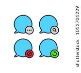 speech bubble icons set