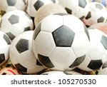 many soccer balls for children | Shutterstock . vector #105270530