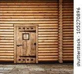 Wooden Wall With Old Door