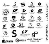 logo collections s. logo design ... | Shutterstock .eps vector #1052713124