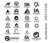 logo collections a. logo design ... | Shutterstock .eps vector #1052713130