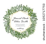 wedding invitation  rsvp modern ... | Shutterstock .eps vector #1052717753