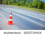 there is a single marking pole...   Shutterstock . vector #1052719424