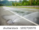 the roads are wet. we can also...   Shutterstock . vector #1052720570