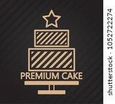 cake vector logo. cake symbol... | Shutterstock .eps vector #1052722274