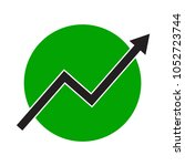growth arrow line chart icon.... | Shutterstock .eps vector #1052723744