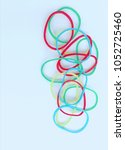 Small photo of elastic band,Colorful rubber band, Rubber Band, Elastic, Elastic Band, Rubber Bands arranged on white background.