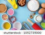 baking background with... | Shutterstock . vector #1052735000