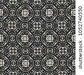 abstract monochrome medallion... | Shutterstock .eps vector #1052740550