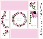 set greeting and visit card.... | Shutterstock .eps vector #1052760986