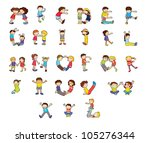 illustration of an alphabet set | Shutterstock . vector #105276344