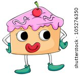 illustration of comical sweet... | Shutterstock . vector #105276350