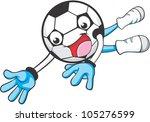 creative soccer goal keeper...   Shutterstock .eps vector #105276599