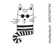 cute hand drawn nursery poster... | Shutterstock .eps vector #1052769794