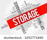storage word cloud collage ... | Shutterstock . vector #1052771840