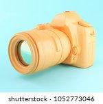 3d illustration. digital orange ... | Shutterstock . vector #1052773046