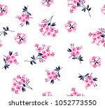 floral bouquet pattern small... | Shutterstock .eps vector #1052773550