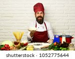 cook with cheerful face in...   Shutterstock . vector #1052775644