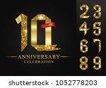 10   90 years anniversary  0  ... | Shutterstock .eps vector #1052778203
