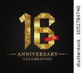 16th anniversary years... | Shutterstock .eps vector #1052784740