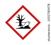 warning sign. official... | Shutterstock .eps vector #1052785478