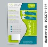 flyer template. design for a... | Shutterstock .eps vector #1052794949