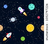 seamless background of space... | Shutterstock .eps vector #1052797226