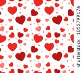 heart seamless pattern.colorful ... | Shutterstock .eps vector #1052799176