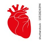 human red heart icon | Shutterstock .eps vector #1052824394