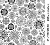 Seamless background  Eastern style black on white . Arabic  Pattern. Mandala ornament. Elements of flowers and leaves. Vector illustration. Use for wallpaper, print packaging paper, textiles.