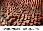 hexagonal copper rods  ... | Shutterstock . vector #1052832749