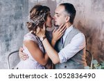 photo session of the newlyweds... | Shutterstock . vector #1052836490