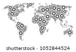global world map collage... | Shutterstock .eps vector #1052844524