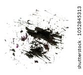 spot black mud watercolor blot | Shutterstock . vector #1052845313