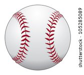 baseball is an illustration of... | Shutterstock .eps vector #105285089