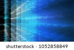 block chain network and... | Shutterstock . vector #1052858849