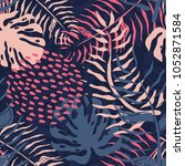 tropical seamless pattern with... | Shutterstock .eps vector #1052871584