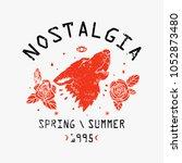 nostalgia spring summer 1995... | Shutterstock .eps vector #1052873480