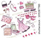 lady's accessories | Shutterstock . vector #105287780