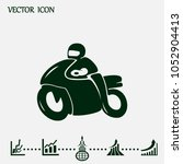 motorcycle icon or sig   Shutterstock .eps vector #1052904413