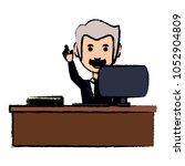 cartoon businessman icon | Shutterstock .eps vector #1052904809