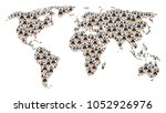 global atlas mosaic organized... | Shutterstock . vector #1052926976