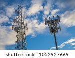 airport radio radar tower... | Shutterstock . vector #1052927669