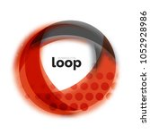 loop circle business icon ... | Shutterstock .eps vector #1052928986