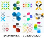 set of modern design abstract... | Shutterstock .eps vector #1052929220